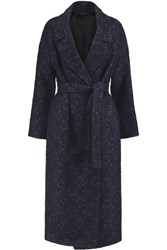 Mother Of Pearl Blair Jacquard Coat Midnight Blue