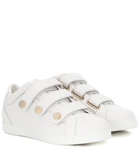 Jimmy Choo Leather Sneakers White