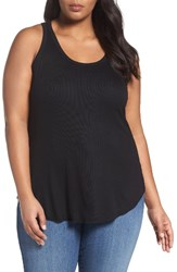 Sejour Plus Size Women's Rib Knit Tank