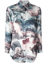 Carven Ocean Print Shirt Multicolour