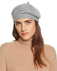 Bloomingdale's C By Cashmere Angelina Beret Pale Gray