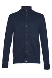 French Connection Men's Master Flux Knit Cardigan Blue