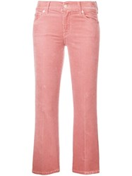 7 For All Mankind Cropped Jeans Pink And Purple