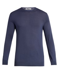 Adam By Adam Lippes Crew Neck Wool Sweater Blue