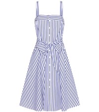 Polo Ralph Lauren Striped Cotton Dress Blue