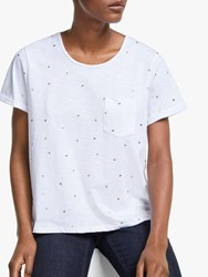 John Lewis Collection Weekend By Heartfelt T Shirt White Gold