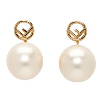Gold Pearl 'F Is Fendi' Earrings