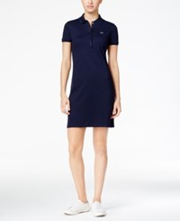 Lacoste Polo Shirtdress Navy Blue