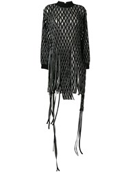 Alyx Cut Out Tassel Sweatshirt Dress Black