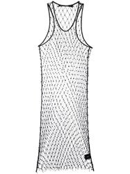 Filles A Papa Beaded Mesh Dress Black