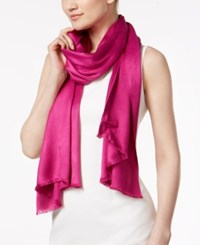 Inc International Concepts Wrap And Scarf In One Only At Macy's Fuchsia