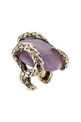 Roberto Cavalli Statement Ring With Semi Precious Stone Multicolor