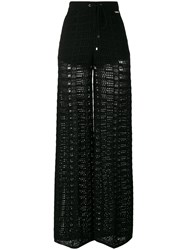 Twin Set Sheer Straight Trousers Black
