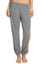Aviator Nation Stripe Sweatpants Heather Grey