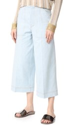 Acne Studios Texel Cropped Trousers Sky Blue