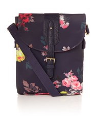 Joules Coated Canvas Cross Body Bag Navy