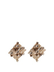 Lanvin Chain Lumiere Crystal Earrings Gold Multi