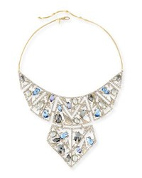 Alexis Bittar Crystal Mosaic Lace Bib Necklace