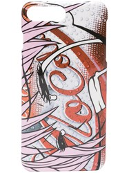 Moschino Mo Cola Print Iphone 8 Case Red