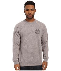 Brixton Wheeler Crew Fleece Heather Grey Men's Sweatshirt Gray