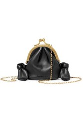 Nanushka Leo Knotted Vegan Faux Leather Shoulder Bag Black