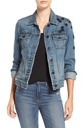 Paige Women's Rowan Sequin Patch Denim Jacket