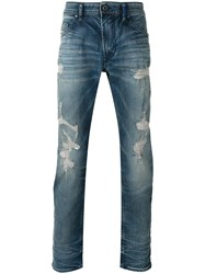 Diesel 'Thommer' Distressed Jeans Black