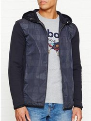 Aquascutum London Harold Jersey Zip Up Jacket Navy