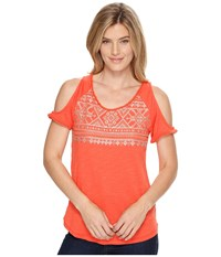 Ariat Lexi Top Red Coral Women's Clothing