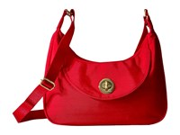 Baggallini Oslo Small Hobo Poppy Red Handbags