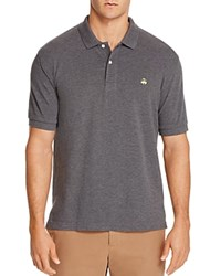 Brooks Brothers Slim Fit Pique Polo Shirt Charcoal
