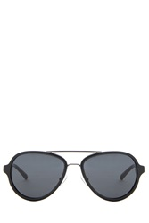 3.1 Phillip Lim Gunmetal Aviator Sunglasses Multi