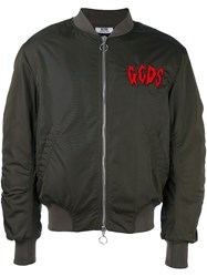 Gcds Embroidered Logo Patch Shell Bomber Green