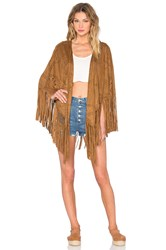 Blank Nyc Cut Out Fringe Vest Cognac