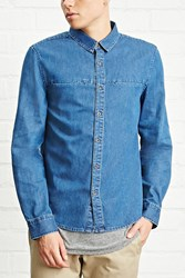Forever 21 Slim Fit Denim Shirt