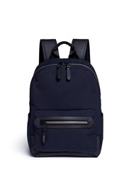 Lanvin Cotton Gabardine Backpack Blue