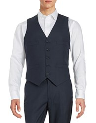 Kenneth Cole Reaction Button Front Vest Blue