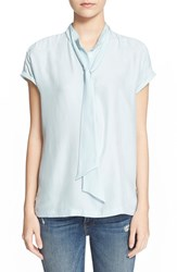 Women's Frame Denim 'Le Sleeveless' Tie Silk Top