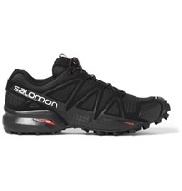 Salomon Speedcross 4 Mesh And Rubber Running Sneakers Black
