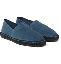 Tom Ford Suede Espadrilles Storm Blue