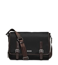 Michael Kors Windsor Large Nylon Messenger Black Brown