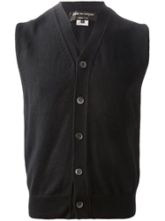 Comme Des Garcons Homme Plus Knitted Waistcoat Black