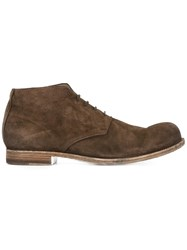 Officine Creative Bubble Lace Up Ankle Boots Brown