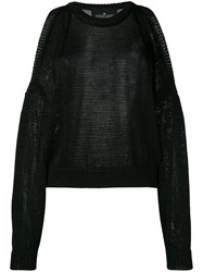 Designers Remix Flynn Jumper Women Nylon Polyester M Black