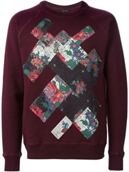 Marc Jacobs Floral Print Sweatshirt Red