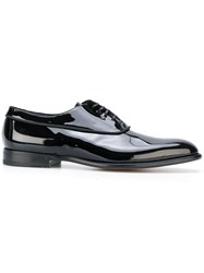 Fabi Piped Detail Oxford Shoes Leather Patent Leather Black