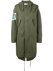 Faith Connexion Painted Jamaican Flag Parka Green