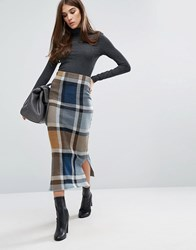 Warehouse Check Midi Skirt Multi