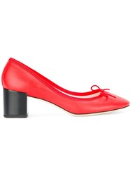 Repetto Front Bow Pumps Red
