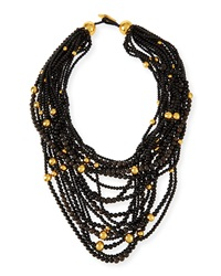 Multi Strand Beaded Statement Necklace Viktoria Hayman